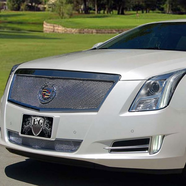 E&G 2013-2015 CADILLAC XTS - CLASSIC FINE MESH GRILLE - UPPER ONLY - ADAPTIVE CRUISE - 1001-010U-13AC