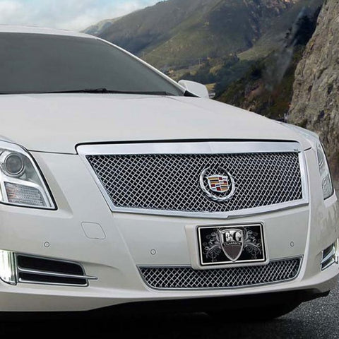 E&G 2013-2015 CADILLAC XTS - CLASSIC HEAVY MESH 2 PC GRILLE - PLATINUM ONLY - ADAPTIVE CRUISE - 1001-0104-13PAC