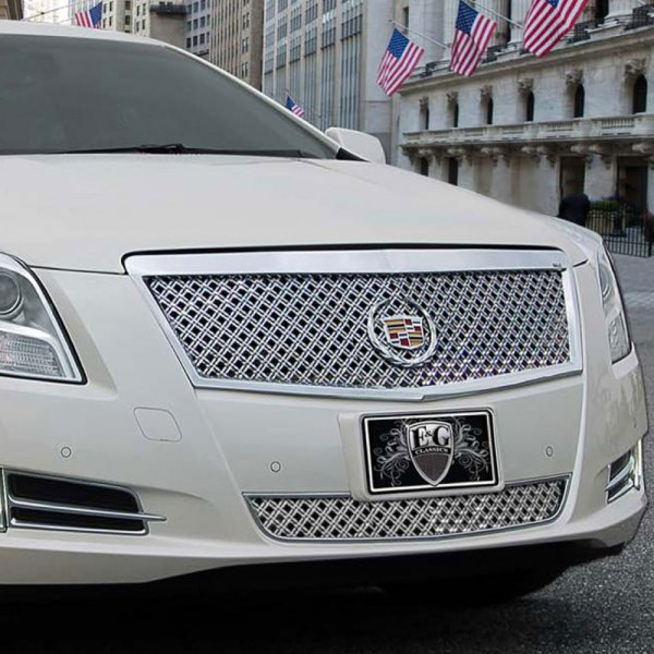 E&G 2013-2015 CADILLAC XTS - CLASSIC DUAL WEAVE MESH 2PC GRILLE - PLATINUM ONLY - ADAPTIVE CRUISE - 1001-0104-13DPAC