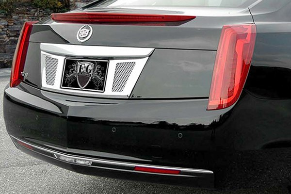 E&G 2013-2017 CADILLAC XTS - CLASSIC REAR TAG SURROUND BLACK ICE MESH - 1001-B710-13