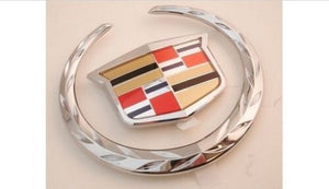 SRX CHROME GRILLE WREATH AND CREST EMBLEM 2010-2016