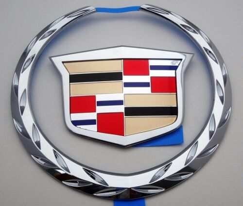 ESCALADE CHROME GRILLE WREATH AND CREST EMBLEM 2002-2006