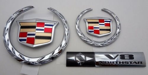 DEVILLE CHROME NEW STYLE EMBLEM UPGRADE PACKAGE 2000 2001