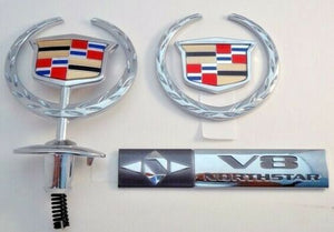 DEVILLE CHROME UPGRADE WITH HOOD ORNAMENT EMBLEM PACKAGE