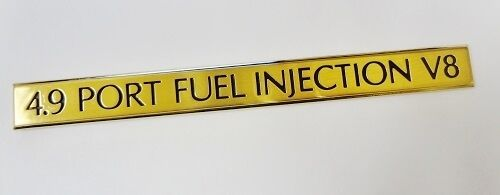 CADILLAC 4.9 PORT FUEL INJECTION V8 24K GOLD EMBLEM