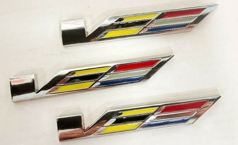 V SERIES STYLE METAL EMBLEM SET OF 3