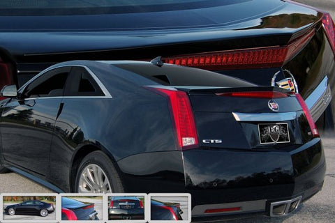 E&G CADILLAC CTS REAR DECK LID SPOILER ( PAINTED: BLACK METALLIC) 5122-1700-11BM