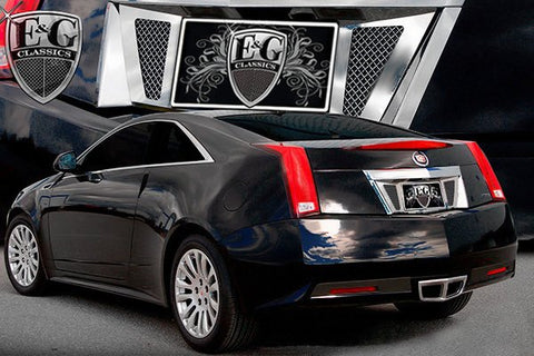 E&G CADILLAC CTS COUPE REAR TAG SURROUND W/ MESH INSERT - BLACK ICE 1122-B710-11