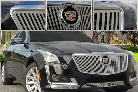 E&G CADILLAC CTS VERTICAL STYLE GRILLE - UPPER ONLY 1007-010U-14VO