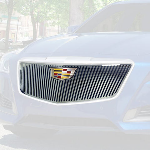 E&G 2015-2018 CADILLAC CTS VERTICAL STYLE GRILLE - UPPER ONLY 1007-010U-15VO
