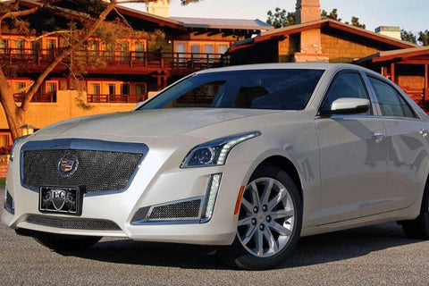 E&G 2014 CADILLAC CTS CLASSIC BLACK ICE FINE MESH GRILLE - UPPER ONLY 1007-B10U-14
