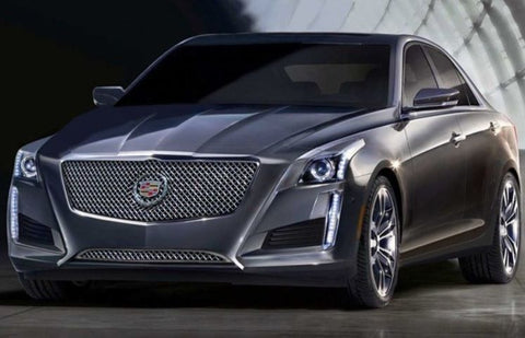 E&G 2014 CADILLAC CTS CLASSIC BLACK ICE HEAVY MESH GRILLE - UPPER ONLY 1007-B10U-14H