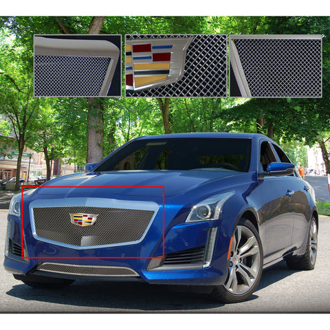 E&G 2015-2018 CADILLAC CTS CLASSIC FINE MESH GRILLE - UPPER ONLY - 1007-010U-15