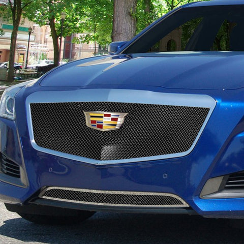 E&G 2015-2018 CADILLAC CTS CLASSIC HEAVY MESH GRILLE - UPPER ONLY W/O ADAPTIVE CRUISE1007-B10U-15H