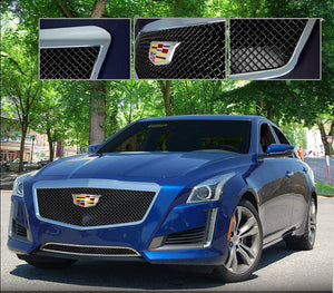 E&G 2015-2018 CADILLAC CTS CLASSIC BLACK ICE HEAVY MESH GRILLE - UPPER ONLY 1007-B10U-15H