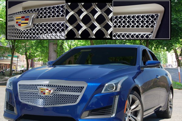 E&G 2015-2018 CADILLAC CTS LUXE WEAVE STYLE GRILLE - UPPER ONLY 1007-040U-15CB