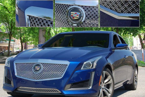E&G 2014 CADILLAC CTS CLASSIC DUAL WEAVE MESH GRILLE - UPPER ONLY 1007-010U-14DAC
