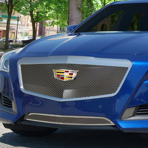 E&G 2015-2018 CADILLAC CTS CLASSIC FINE MESH GRILLE - UPPER ONLY 1007-010U-15AC