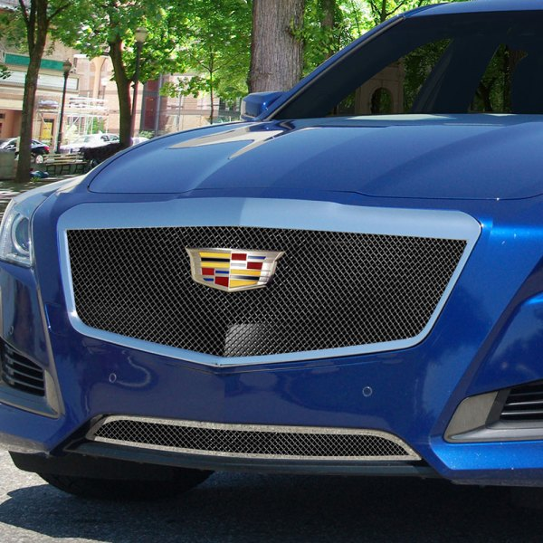 E&G 2015-2018 CADILLAC CTS CLASSIC BLACK ICE FINE MESH GRILLE - UPPER ONLY 1007-B10U-15AC