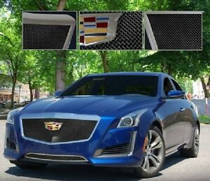E&G 2015-2018 CADILLAC CTS CLASSIC BLACK ICE FINE MESH GRILLE - UPPER ONLY 1007-B10U-15ACC