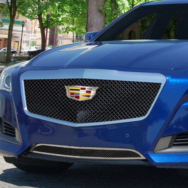 E&G 2015-2018 CADILLAC CTS CLASSIC BLACK ICE HEAVY MESH GRILLE - UPPER ONLY 1007-B10U-15HAC