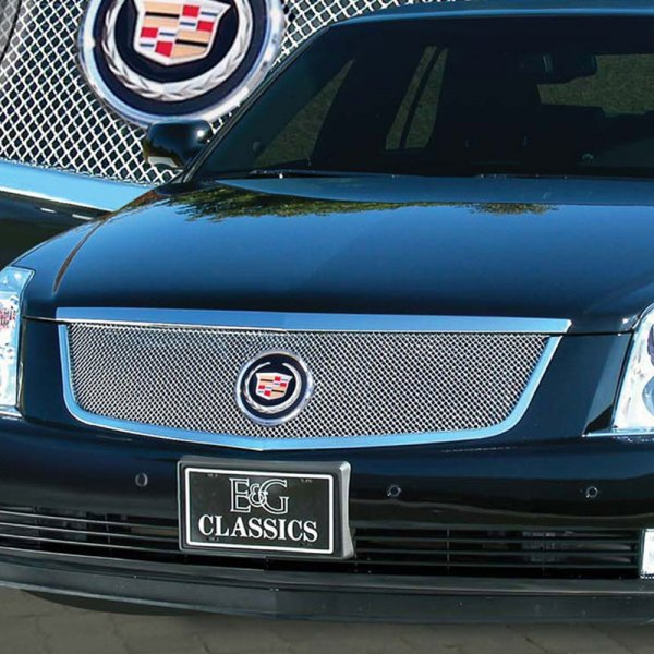 E&G 2006-2011 CADILLAC DTS CLASSIC FINE MESH GRILLE UPPER ONLY 1986-0102-06