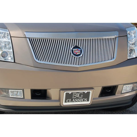 E&G 2007-2014 CADILLAC ESCALADE CLASSIC VERTICAL GRILLE - SILVER UPPER ONLY 1009-0101-07R