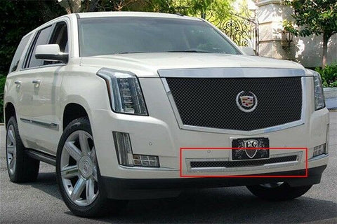 E&G 2015 CADILLAC ESCALADE CLASSIC BLACK ICE HEAVY MESH GRILLE - LOWER 1009-B10L-15H
