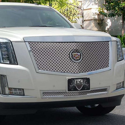 E&G 2015 CADILLAC ESCALADE CLASSIC SERIES CHROME DUAL WEAVE MESH MAIN GRILLE - LOWER - 1009-010L-15D