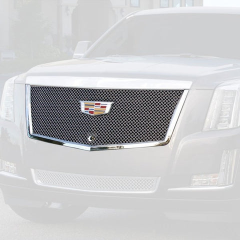 E&G 2015i-2018 CADILLAC ESCALADE CHROME HEAVY MESH MAIN GRILLE - UPPER - 1009-050U-15H