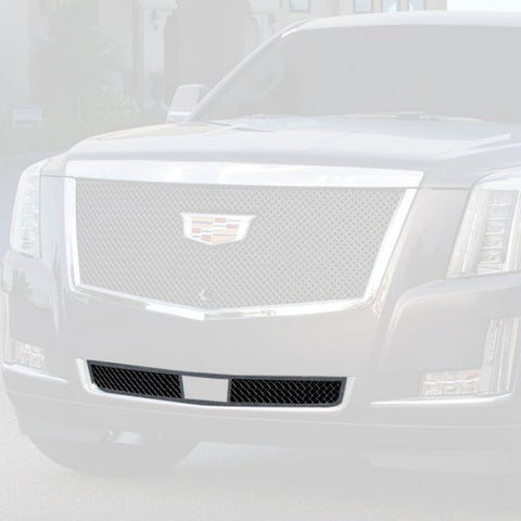 E&G 2015i-2018 CADILLAC ESCALADE BLACK ICE HEAVY MESH BUMPER GRILLE - LOWER - 1009-B50L-15HAC