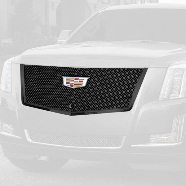 E&G 2015i-2018 CADILLAC ESCALADE CLASSIC SERIES BLACK ICE HEAVY MESH MAIN GRILLE - UPPER - 1009-050U-15HB