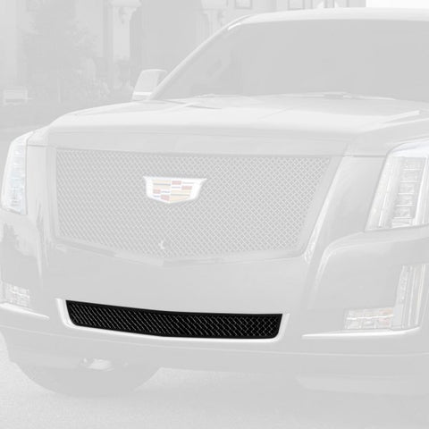 E&G 2015i-2018 CADILLAC ESCALADE CLASSIC SERIES BLACK ICE HEAVY MESH ADAPTIVE CRUISE BUMPER GRILLE - LOWER - 1009-050L-15HACB