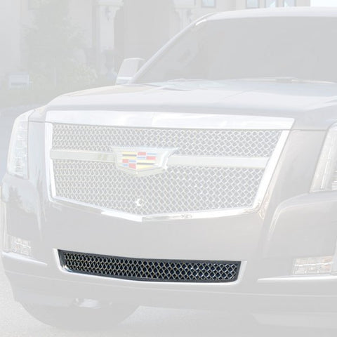 E&G 2015i-2018 CADILLAC ESCALADE CHROME LUXE WEAVE MESH MAIN GRILLE - LOWER - 1009-060L-15