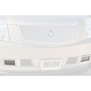 E&G 2007-2014 CADILLAC ESCALADE 2-PC CLASSIC STYLE VERTICAL BILLET TOW HOOK GRILLES - 1009-01CT-07