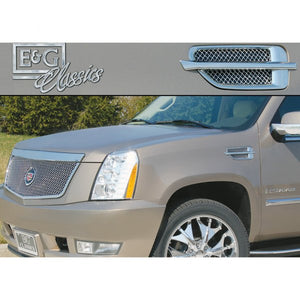 E&G 2007-2014 CADILLAC ESCALADE FENDER VENT FINE MESH COVER SET BLACK ICE - 1009-B10W-07