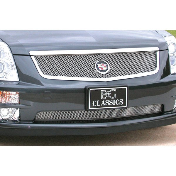 E&G 2005-2007 CADILLAC STS CLASSIC FINE MESH GRILLE - ADAPTIVE CRUISE - UPPER ONLY - 1006-0102-05AC