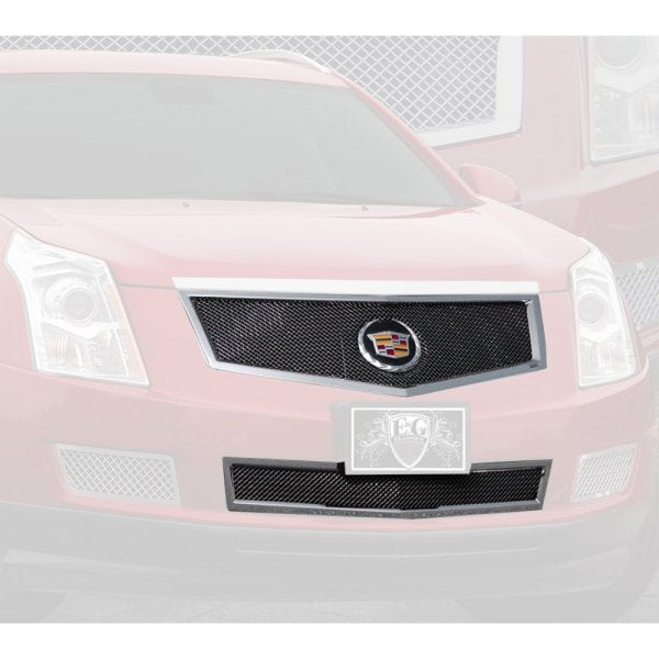 E&G 2010-2012 CADILLAC SRX 2PC FINE MESH GRILLE BLACK ICE - 1003-B102-10MS