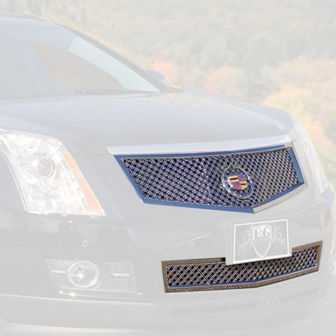 E&G 2010-2012 CADILLAC SRX 2PC DUAL WEAVE MESH MIRROR STAINLESS GRILLE - 1003-0104-10MSD