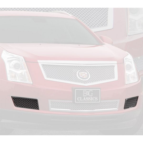 E&G 2010-2015 CADILLAC SRX FRONT BRAKE DUCT COVERS FINE MESH BLACK ICE - 1003-B10W-10