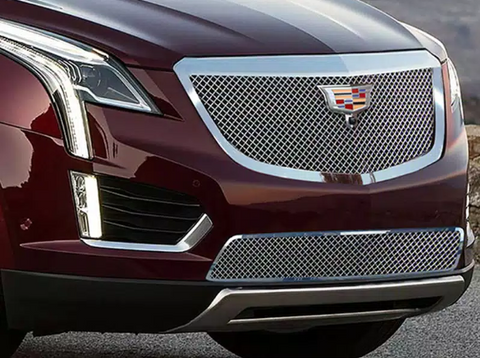 E&G 2017-2018 CADILLAC XT5 - CLASSIC CHROME FINE MESH GRILLE - LOWER W/ ADAPTIVE CRUISE - 1020-010L-17AC