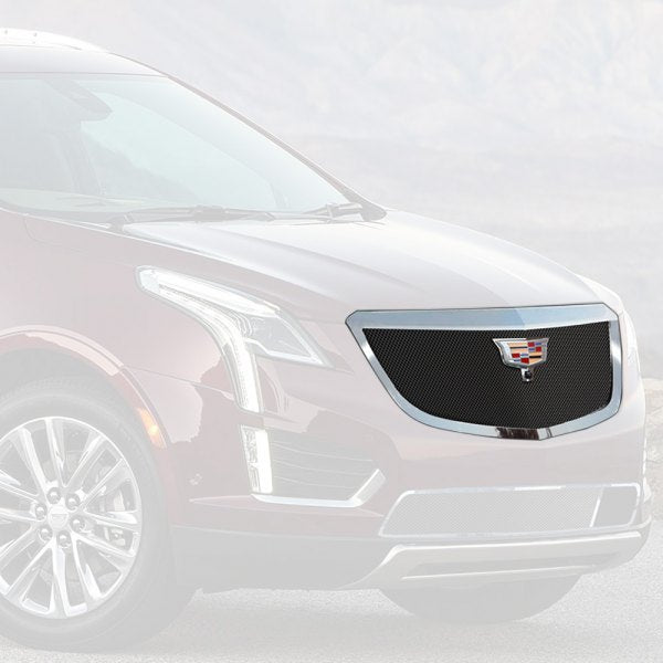 E&G 2017-2018 CADILLAC XT5 -CLASSIC BLACK ICE FINE MESH GRILLE - UPPER WITH CAMERA - 1020-B10U-17C