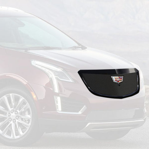 "E&G 2017-2018 CADILLAC XT5 -CLASSIC ""PiD"" FINE MESH GRILLE - UPPER WITH CAMERA - 1020-010U-17CB"