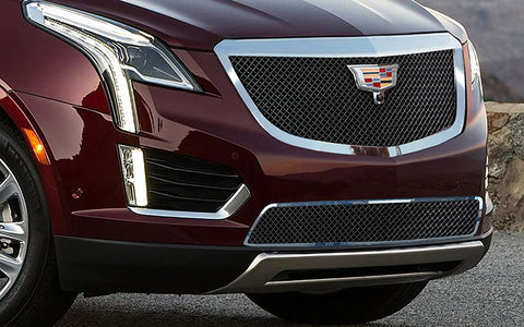 E&G 2017-2018 CADILLAC XT5 - CLASSIC BLACK ICE HEAVY MESH GRILLE - LOWER W/ ADAPTIVE CRUISE - 1020-B10L-17HAC