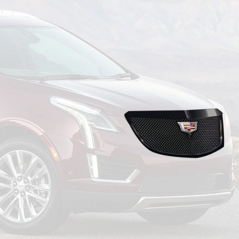 "E&G 2017-2018 CADILLAC XT5 -CLASSIC ""PiD"" HEAVY MESH GRILLE - UPPER WITH CAMERA - 1020-010U-17HCB"