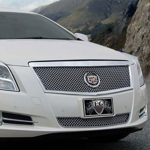 E&G 2013-2015 CADILLAC XTS - CLASSIC BLACK ICE HEAVY MESH 2 PC GRILLE -1001-B104-13P