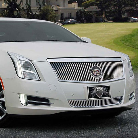 E&G 2013-2015 CADILLAC XTS - CLASSIC VERTICAL STYLE 2 PC GRILLE - 1001-0101-13P