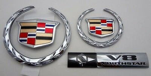 DTS DHS Deville New Style Upgrade Emblem Package Chrome 2000 2001