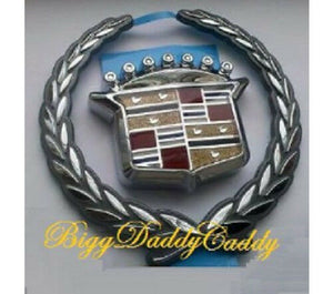 Deville Grille Wreath and Crest Chrome 2000 2001