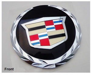 ESCALADE CHROME GRILLE WREATH AND CREST W/BLACK PLATE 2007-2014